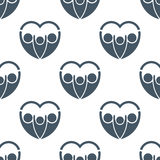 Family people love heart seamless pattern background Royalty Free Stock Photos