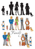 Family people on white background Royalty Free Stock Photo