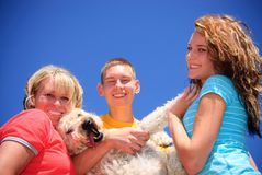 Family with pet Stock Image