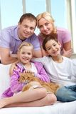 Family with pet Stock Photography