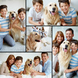 Family with pet Stock Images