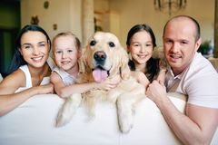 Family and pet Stock Photo