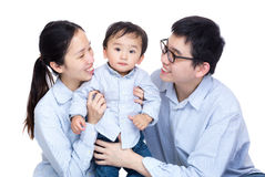 Family photo with baby son Royalty Free Stock Images