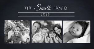 family photo collage stock photography