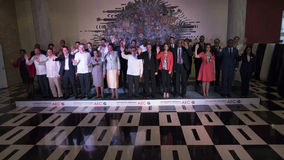 Family Photo at the end of the 22nd Meeting of the Association of Caribbean States Ministerial Council Royalty Free Stock Image