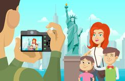 Family photo in New York Stock Photos