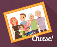 Family photo portrait Royalty Free Stock Photo