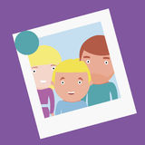 Family photo. Vector illustration of family photo Stock Photography