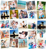 Family photos indoors and outdoors Royalty Free Stock Image