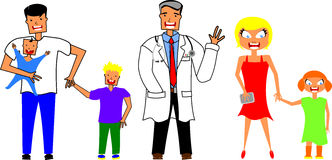 Family physician Stock Images