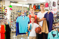 Family picking various clothing Stock Photography