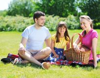 Family on picnic Royalty Free Stock Photos