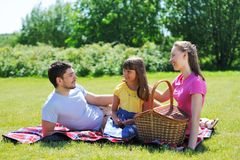 Family on picnic Stock Photography