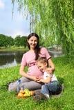 Family picnic Stock Photos