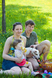 Family on picnic Royalty Free Stock Photography
