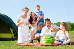 Family picnic Stock Images