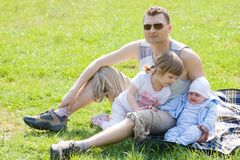 Family picnic Royalty Free Stock Image
