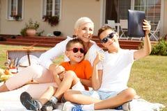Family picnic. Stock Image