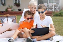 Family picnic. Royalty Free Stock Photography