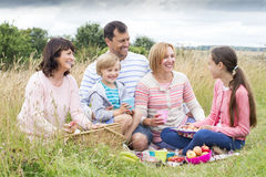 Family picnic on the dunes Royalty Free Stock Photos