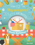 Family picnic invite card in vector format. Food Royalty Free Stock Photo