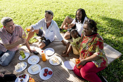 Family Picnic Outdoors Togetherness Relaxation Concept Royalty Free Stock Photography