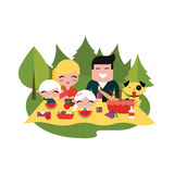 Family picnic outdoors Royalty Free Stock Photography
