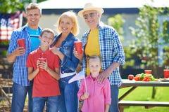 Family on picnic Stock Photos