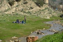 Family picnicking Stock Photo