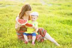 Family picnicking in the park Royalty Free Stock Image