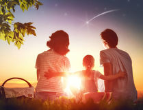 Family picnicking together Stock Photography