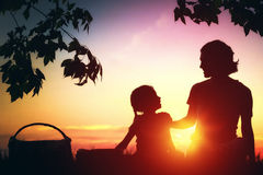 Family picnicking together Stock Images