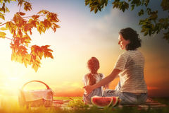 Family picnicking together Royalty Free Stock Image