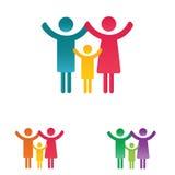 Family pictogram Stock Photo