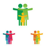 Family pictogram Royalty Free Stock Photo