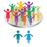 Family pictogram Stock Photography