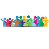 Family pictogram. Background pictograms showing figures happy family Royalty Free Stock Photo
