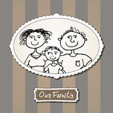 Family picture with parents and son Stock Images
