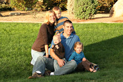Family Picture at the park royalty free stock images
