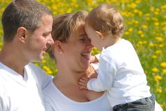 Family Picture with Toddler Stock Photography