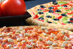 Family pizza combo Stock Photography