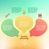 Family-planning-concept-background-brochure-page Royalty Free Stock Images