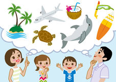 Family planning Happy summer Vacations Stock Photography