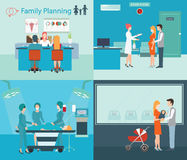 Family planning at the hospital. Stock Photo