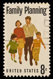 Family Planning Postal Stamp. Family Planning issued in 1972 Royalty Free Stock Photo