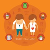 Family planning vector concept Royalty Free Stock Photos