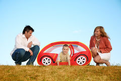 Family playing Royalty Free Stock Photos