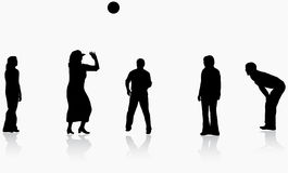 Family playing ball together Royalty Free Stock Images