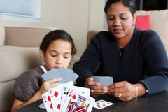 Family Playing Cards Royalty Free Stock Image