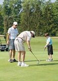 Family Playing Golf Stock Photography